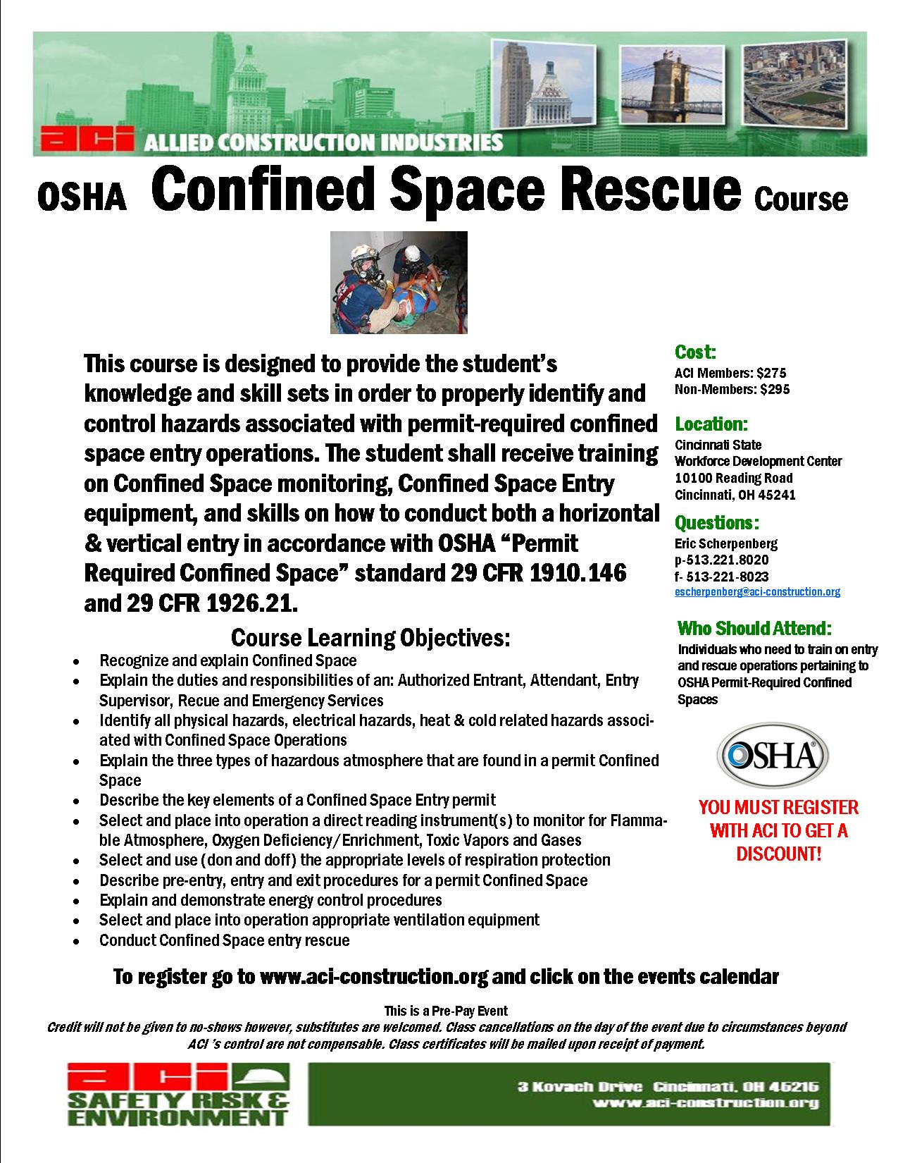 Confined Space Rescue December 12-13, 2013-Cancelled | Allied ...